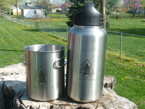 Stainless Steel Water Bottle and Cup