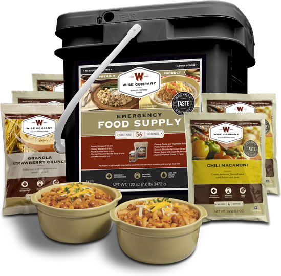 Food Storage Bucket - 56 serving breakfast and dinner