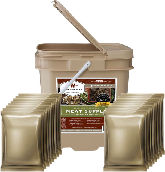 Freeze Dried Meat - Bucket of 60 servings