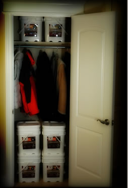 Buckets In Closet for the Best in Long Term Food Storage