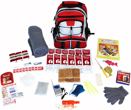 A Backpack Children's Survival Kit