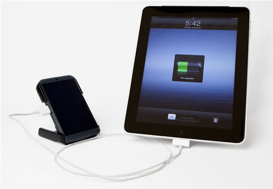 Waka Waka Power charging a tablet