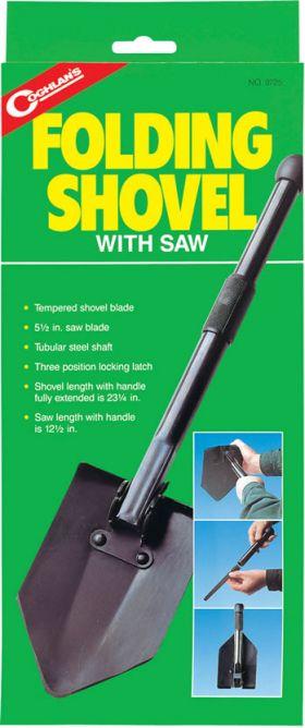 folding shovel with saw