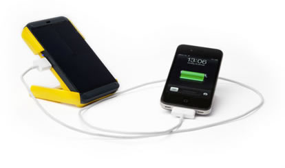 Waka Waka Power charging a Smart Phone