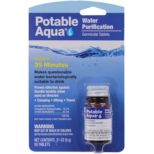 Purification Tablets - Potable Aqua